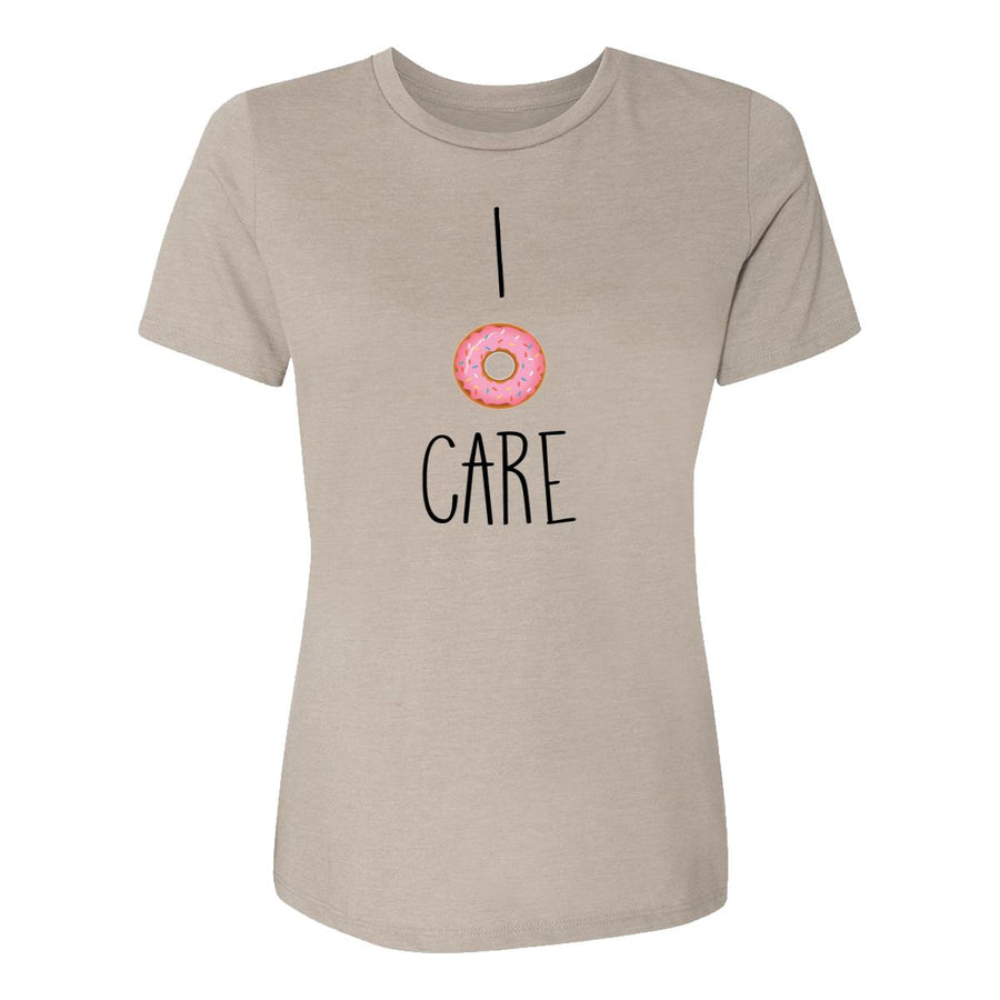 I Donut Care Womens Tee Shirt