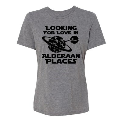 Looking For Love In Alderaan Places Womens Tee Shirt