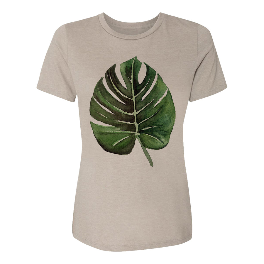 Palm Leaf Womens Tee Shirt