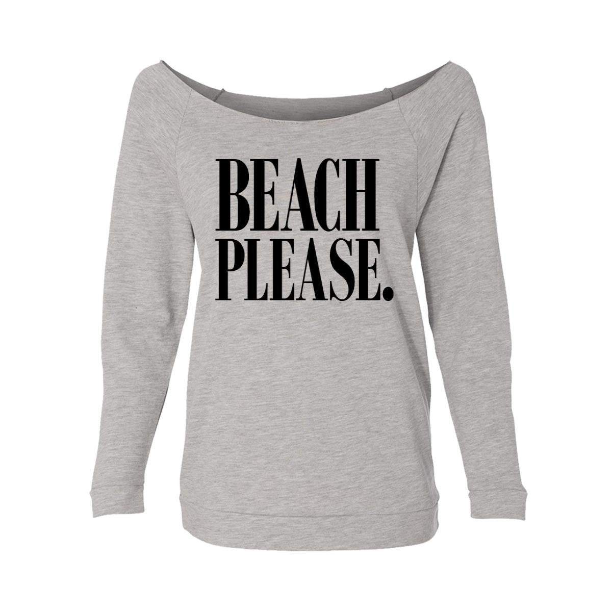 2e03009d6f13 Beach Please. Womens Raw-Edge Scoop Neck Sweater - Moment Gear