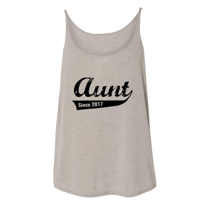 Aunt Since 2017 Womens Tank