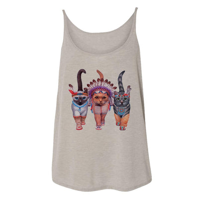 Festive Costume Indian Cats Womens Tank