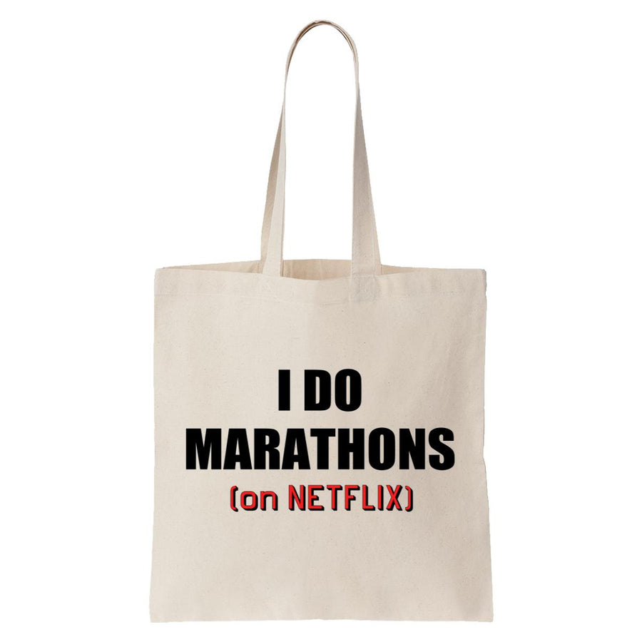 I Do Marathons (On Netflix) Tote Bag