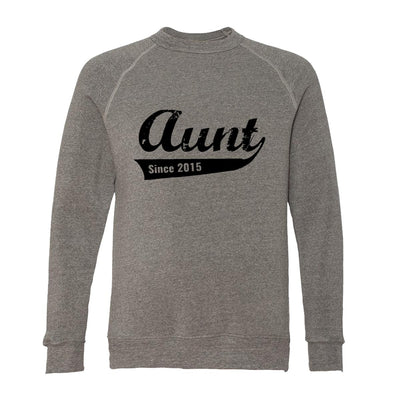 Aunt Since 2015 Adult Raglan Sweatshirt