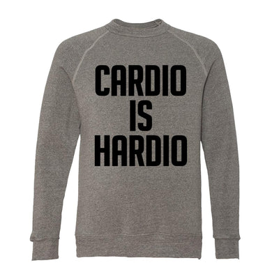 Cardio Is Hardio Adult Raglan Sweatshirt