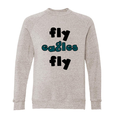 Fly Eagles Fly Adult Raglan Sweatshirt