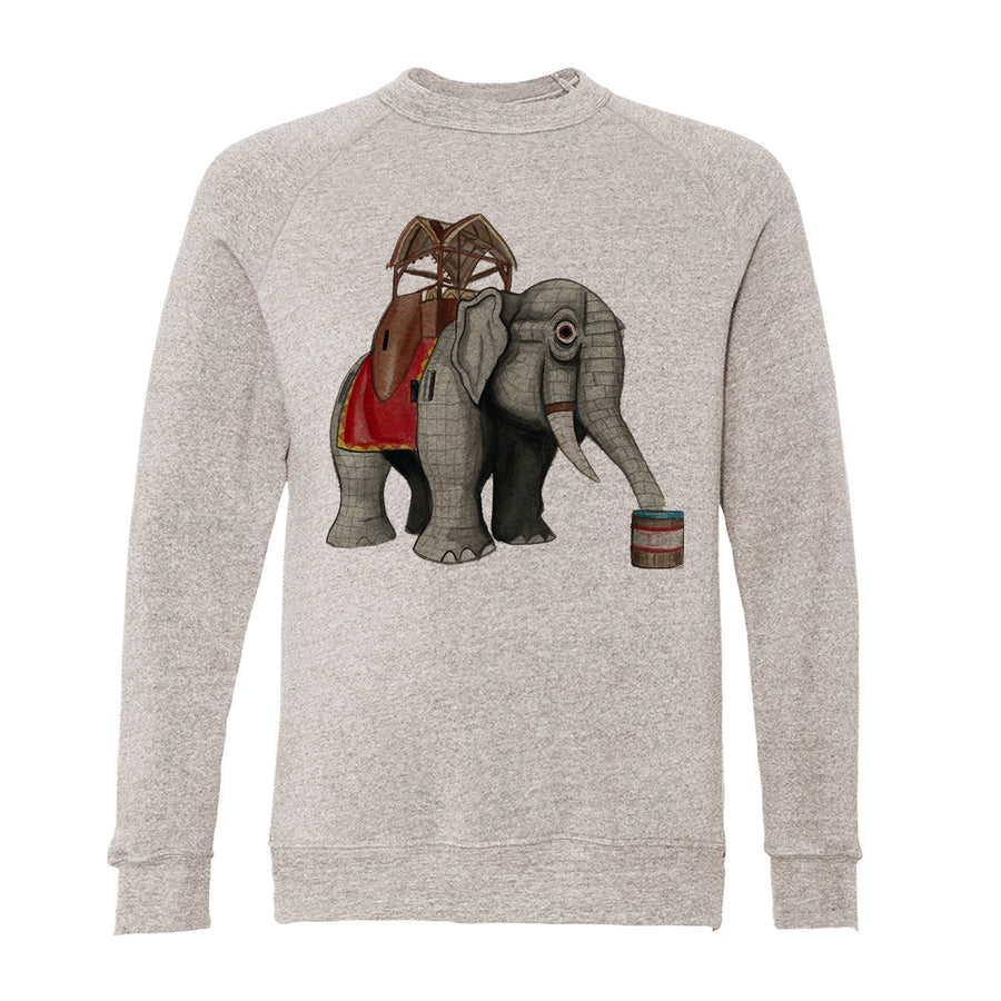 Lucy The Elephant Adult Raglan Sweatshirt