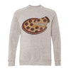 Pepperoni Pizza Pie Adult Raglan Sweatshirt