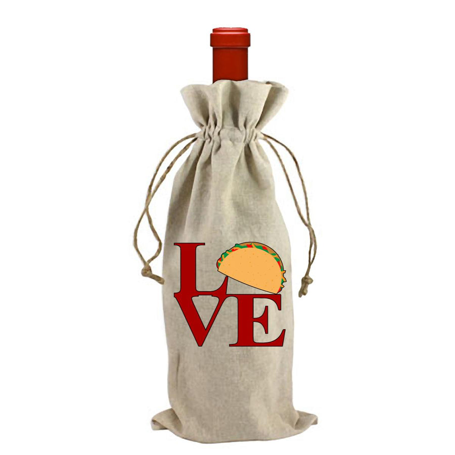 Love Sculpture With Taco Wine Bag