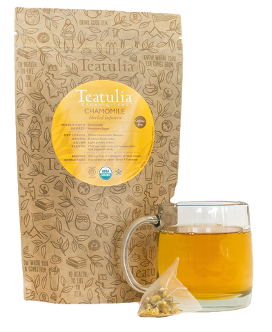 Teatulia Organic Chamomile Herbal Unwrapped