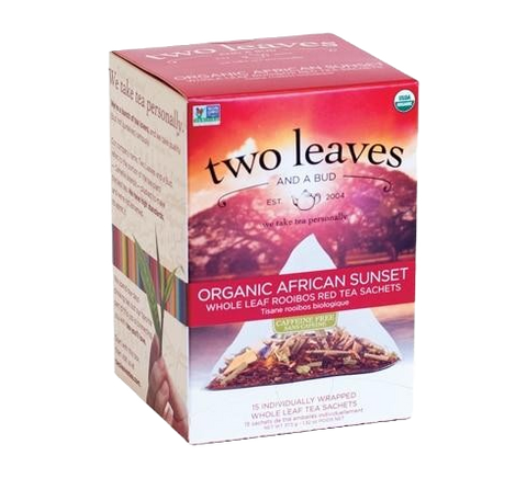 Two Leaves Organic African Sunset Tea Sachets