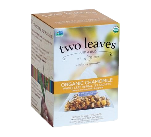 Two Leaves Organic Chamomile Tea Sachets