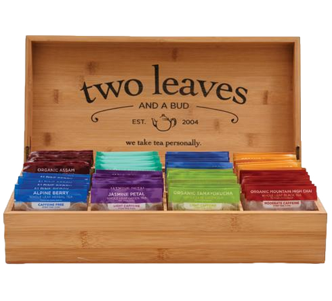 Two Leaves Bamboo Tea Chest