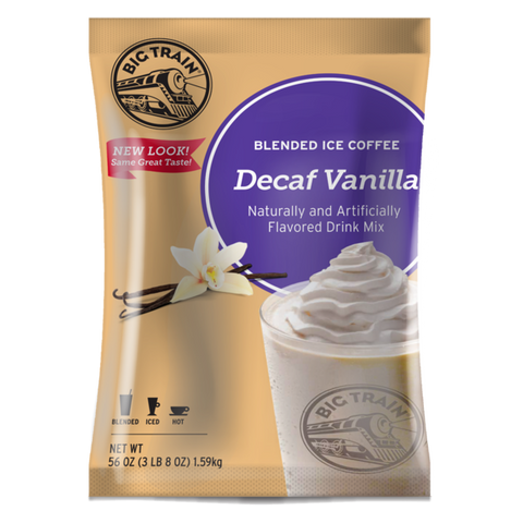 Big Train Decaf Vanilla Latte Blended Ice Coffee