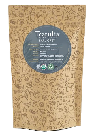 Teatulia Organic Earl Grey Tea Unwrapped