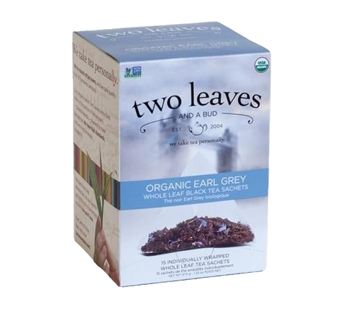 Two Leaves Organic Earl Grey Tea Sachets