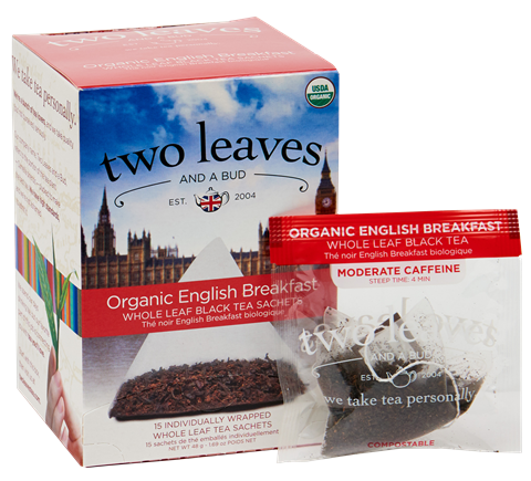 Two Leaves Organic English Breakfast Tea Sachets