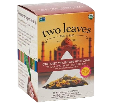 Two Leaves Organic Mountain High Chai Tea Sachets