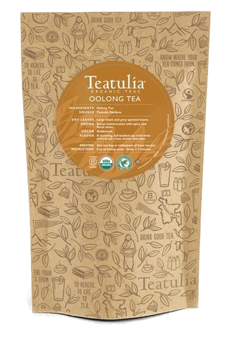 Teatulia Organic Oolong Tea Unwrapped