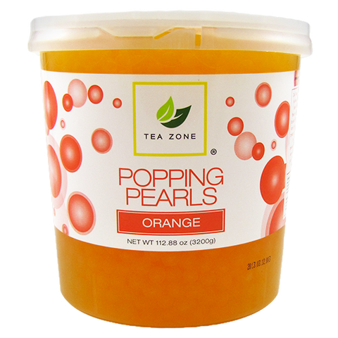 Tea Zone Orange Popping Boba
