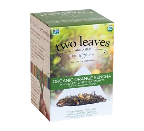Two Leaves Orange Sencha Tea Sachets