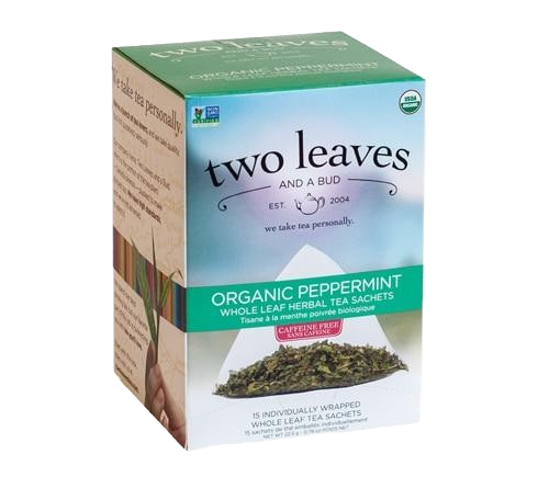 Two Leaves Organic Peppermint Tea Sachets