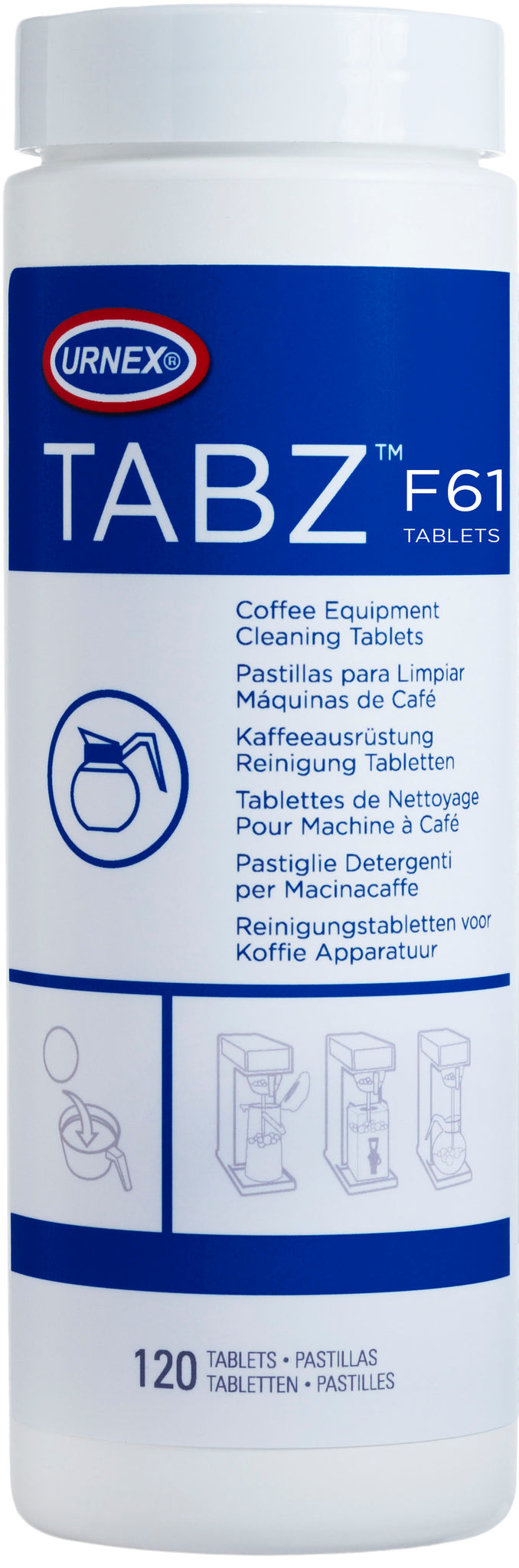 Urnex Tabz Coffee Brewer Cleaner Tablets
