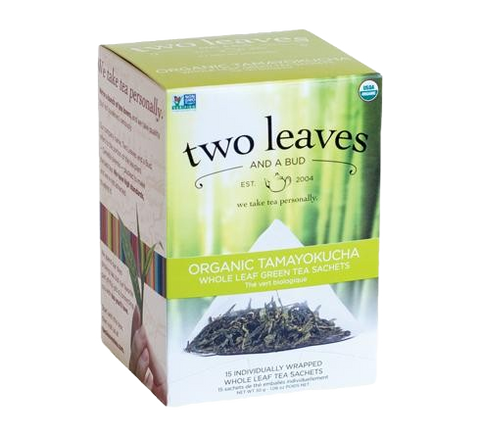 Two Leaves Organic Tamayokucha Tea Sachets