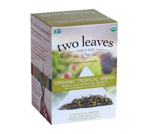 Two Leaves Organic Tropical Green Tea Sachets