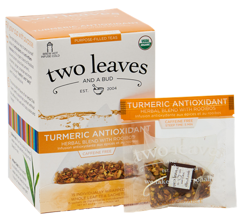 Two Leaves Organic Turmeric Antioxidant Tea Sachets