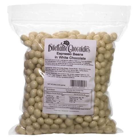 Dilettante Chocolates White Chocolate Espresso Beans