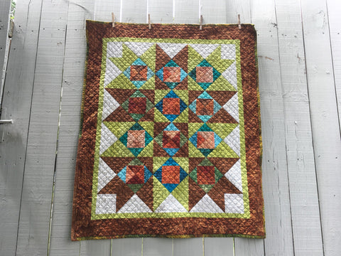 Batik Cotton Quilt - GARDEN VIEW