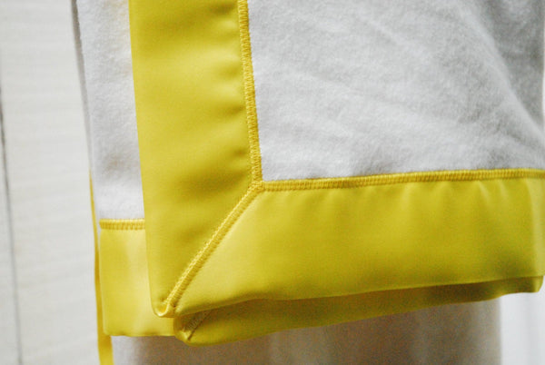 Organic Cotton Fleece Baby Blanket with Satin Trim, CHOOSE YOUR COLOR, Baby Gifts, Satin Lovey