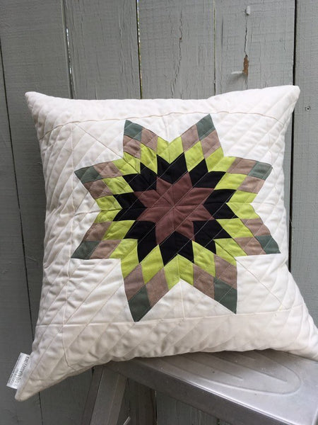 "Hand-Dyed Organic Cotton and Linen Decorative Throw Pillow 20"" x 20"""