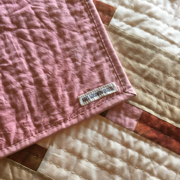 Hand-Dyed Organic Cotton Quilt -STITCHES