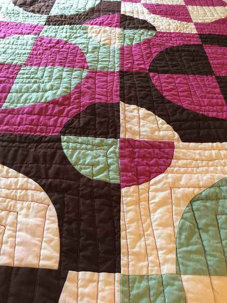 Hand Dyed Organic Cotton Quilt - RASPBERRY PIE