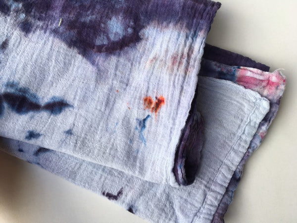 Hand-Dyed Cotton Gauze Utility Towel #013