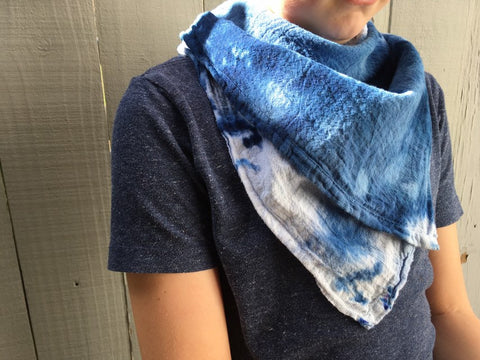 Hand-Dyed Cotton Gauze Utility Towel  #012