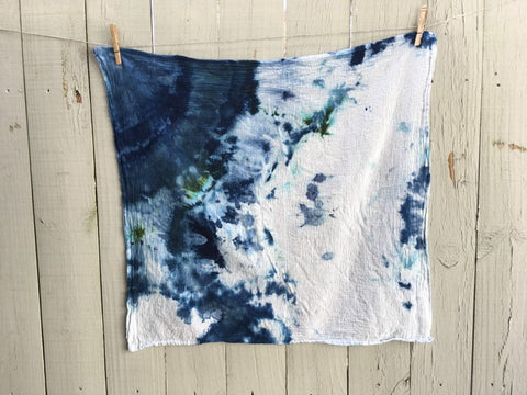 Hand-Dyed Cotton Gauze Utility Towel  #011