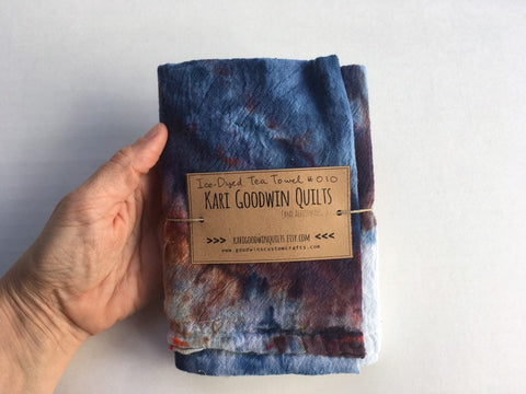 Hand-Dyed Cotton Gauze Utility Towel  #010