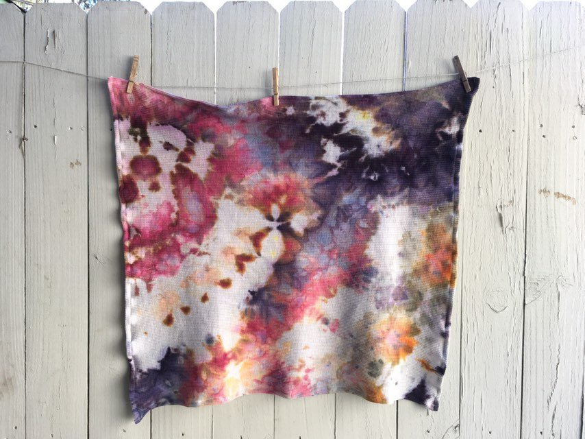 Ice-Dyed Organic Cotton Thermal Blanket #002