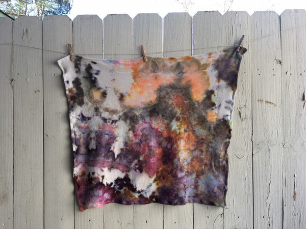 Ice-Dyed Organic Cotton Thermal Blanket #001