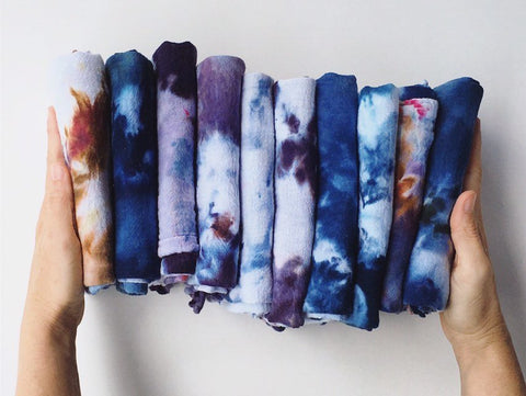Hand-Dyed Cotton Gauze Utility Towel #018