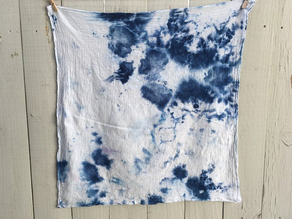 Hand-Dyed Cotton Gauze Utility Towel  #014