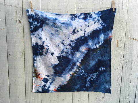Hand-Dyed Cotton Gauze Utility Towel #009