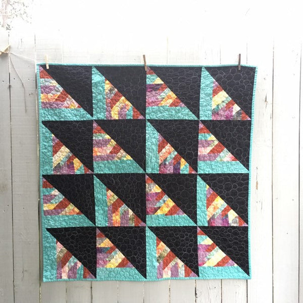Hand-Dyed Organic Cotton Quilt - BRAIDED FENCERAILS