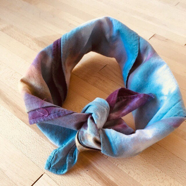 Ice Dyed Hank, EDC Hankerchief, Ice-Dyed Cotton Bandana, Every Day Carry Hank #08