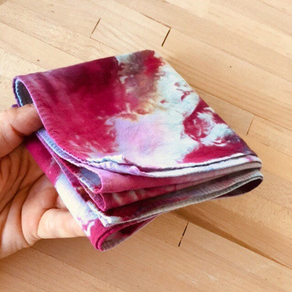 Ice Dyed Hank, EDC Hankerchief, Ice-Dyed Cotton Bandana, Every Day Carry Hank #10
