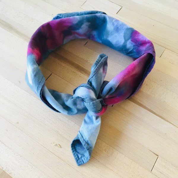 Ice Dyed Hank, EDC Hankerchief, Ice-Dyed Cotton Bandana, Every Day Carry Hank #12