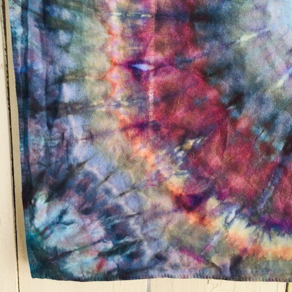 Ice Dyed Hank, EDC Hankerchief, Ice-Dyed Cotton Bandana, Every Day Carry Hank #018